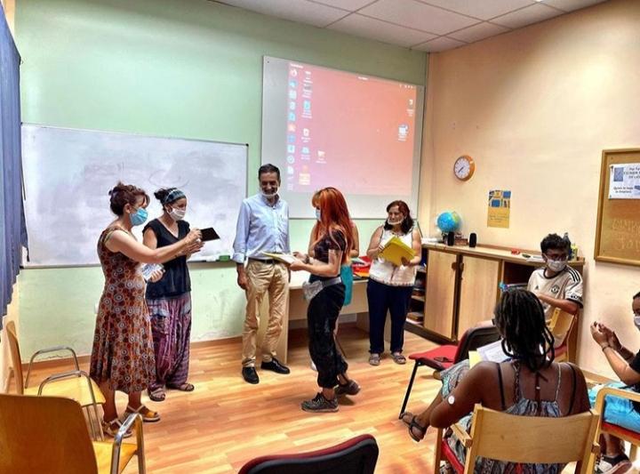 Entrega de diplomas de la Escuela Taller II