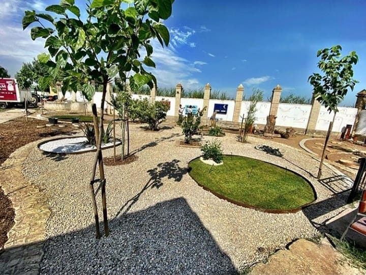 Jardín elaborado por el alumnado del Taller de Empleo en Jardinería y Agricultura Ecológica
