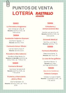 Puntos de venta de lotería del Rastrillo Aragón